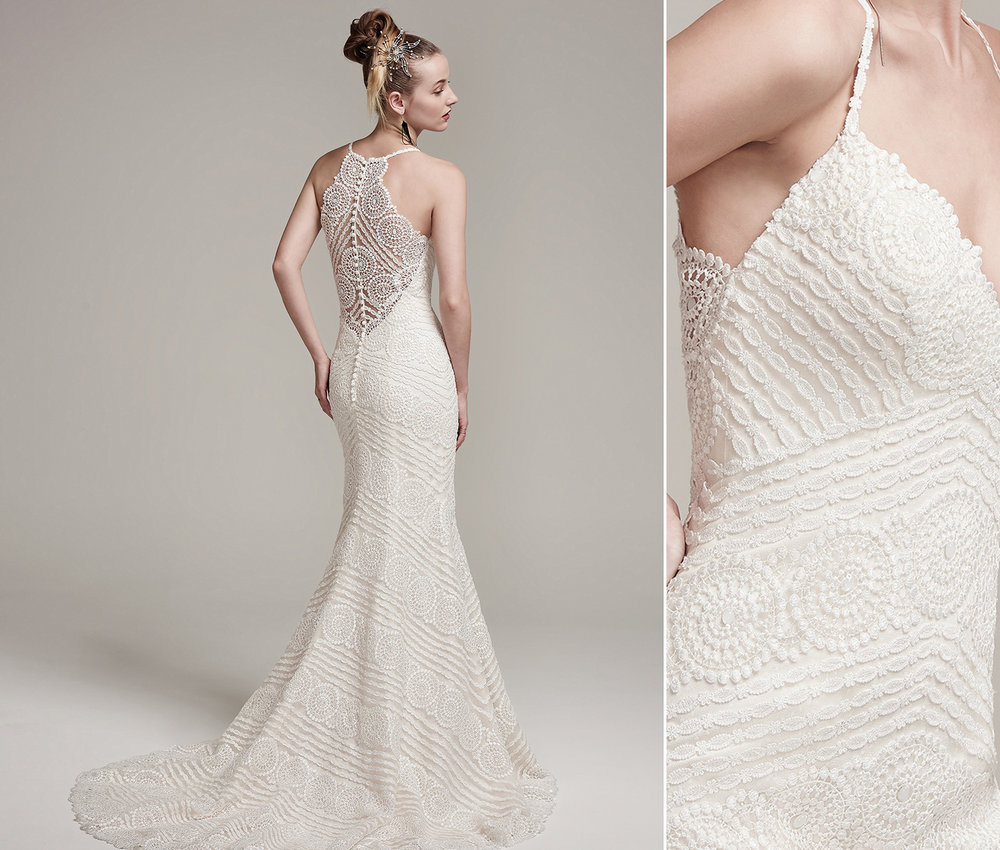 Maggie Sottero Bexley made with Guipure lace