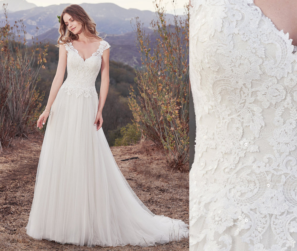 Hensley is a gorgeous mix of lace and tulle.