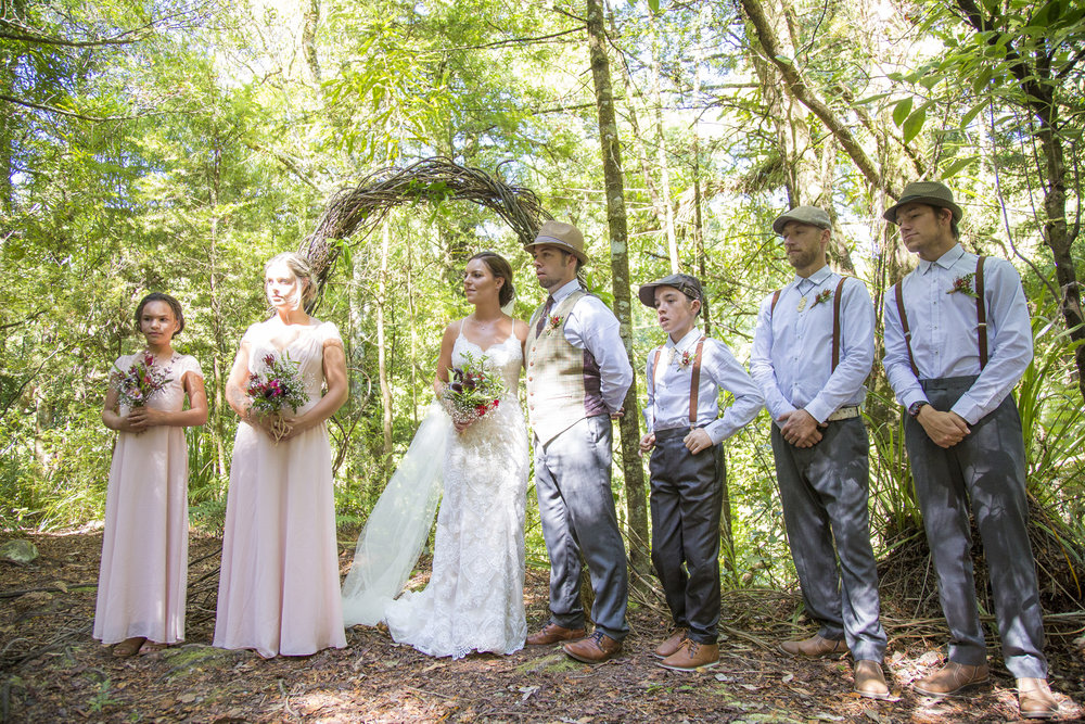 Woodlands Ceremony | Astra Bride Kylie | Christina Rossi 4246 | Kaimai Mamaku Forest | Creative Grain Photography |
