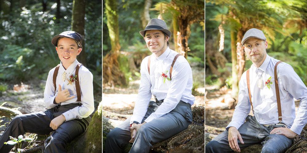 Groomsmen | Astra Bride Kylie | Christina Rossi 4246 | Kaimai Mamaku Forest | Creative Grain Photography |