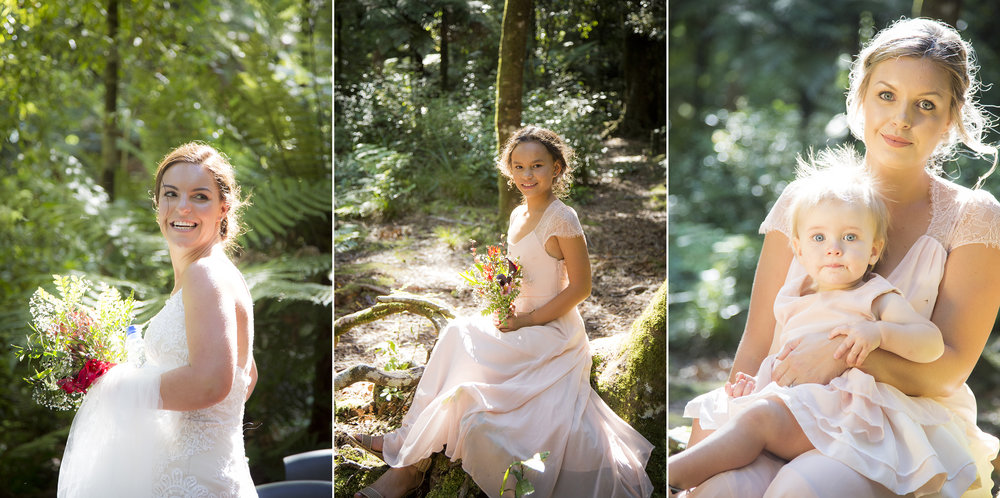 Blush Bridesmaids | Astra Bride Kylie | Christina Rossi 4246 | Kaimai Mamaku Forest | Creative Grain Photography |