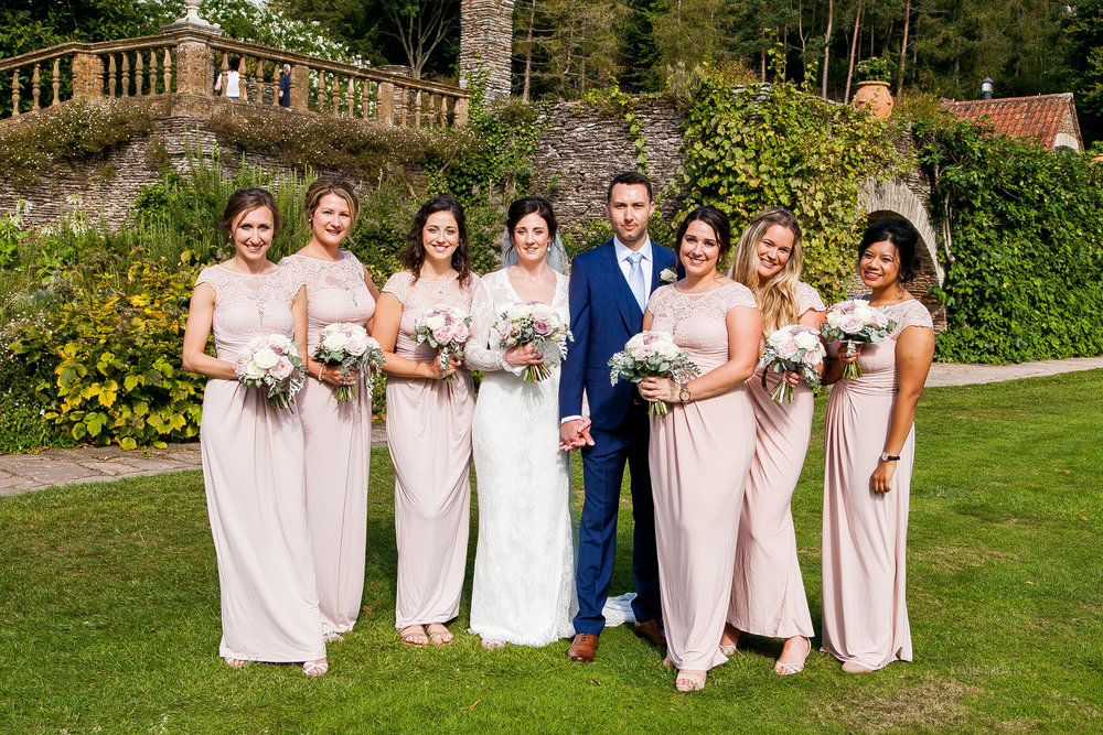 Full bridal party | Astra bride Pippa | Maggie Sottero Darla | Photography by Kevin Brown Photography | Darla exclusive in New Zealand to Astra Bridal |