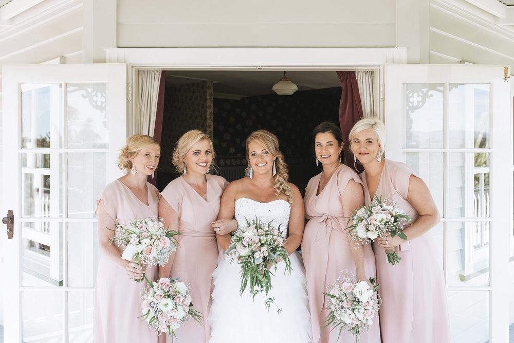Bridesmaid in blush | Astra Bride Lianne | Christina Rossi 4104 | Charlemagne Lodge | Rambo Estrada Photographer |