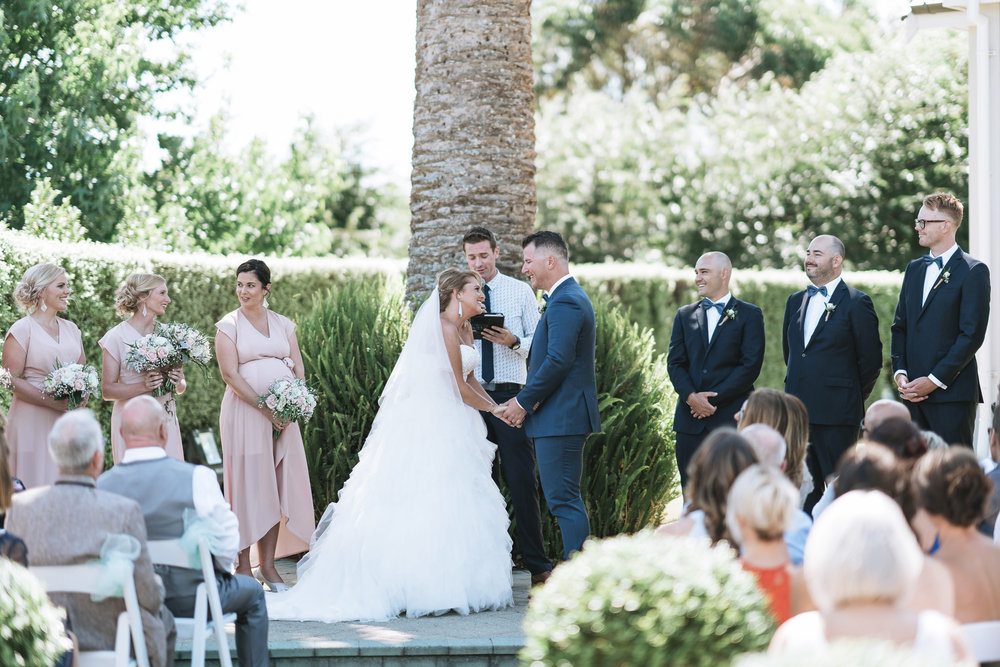 Outdoor New Zealand ceremony | Astra Bride Lianne | Christina Rossi 4104 | Charlemagne Lodge | Rambo Estrada Photographer |