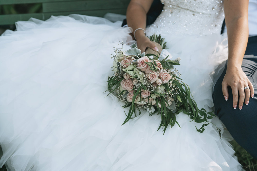 Blush flower bouquets | Astra Bride Lianne | Christina Rossi 4104 | Charlemagne Lodge | Rambo Estrada Photographer |