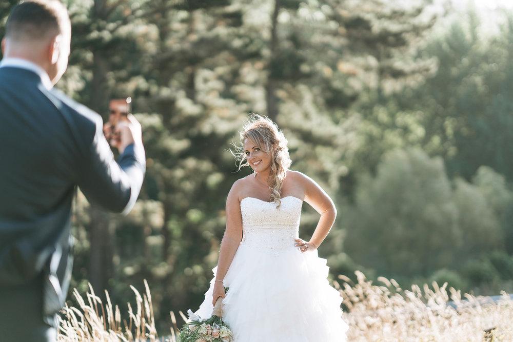 Camera fun | Astra Bride Lianne | Christina Rossi 4104 | Charlemagne Lodge | Rambo Estrada Photographer |