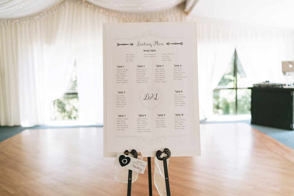 Seating plan | Astra Bride Lianne | Christina Rossi 4104 | Charlemagne Lodge | Rambo Estrada Photographer |