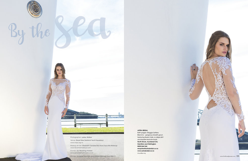 Maggie Sottero Blanche | As Featured in New Zealand Bride and Groom Magazine Issue 93