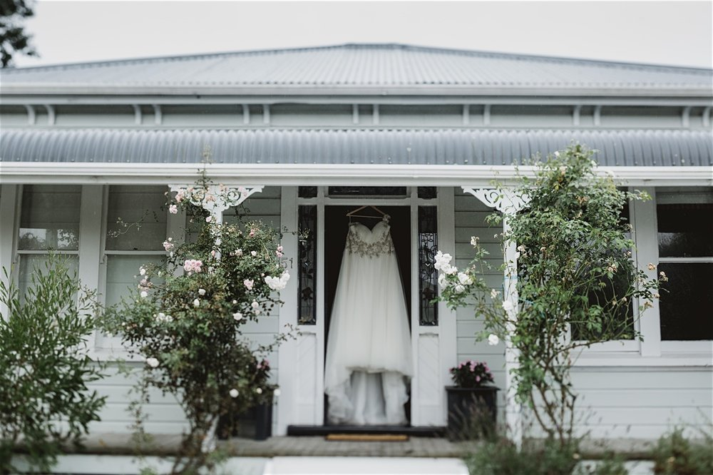 The gown awaits | Astra bride Michele | Maggie Sottero Shelby | Coney Wines Martinborough | Emily Adamson Photography |