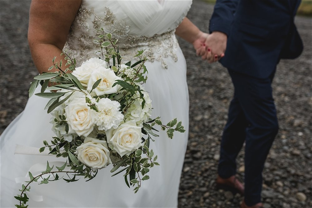 Gorgeous flowers from Yvette Edwards | Astra bride Michele | Maggie Sottero Shelby | Coney Wines Martinborough | Emily Adamson Photography |