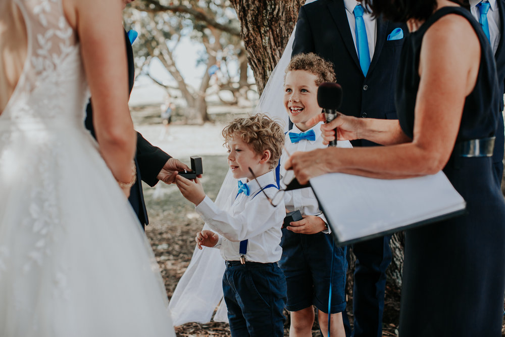 Ring bearers | Astra Bride Nicola | Milford Beach | Charlotte Christian Photography |