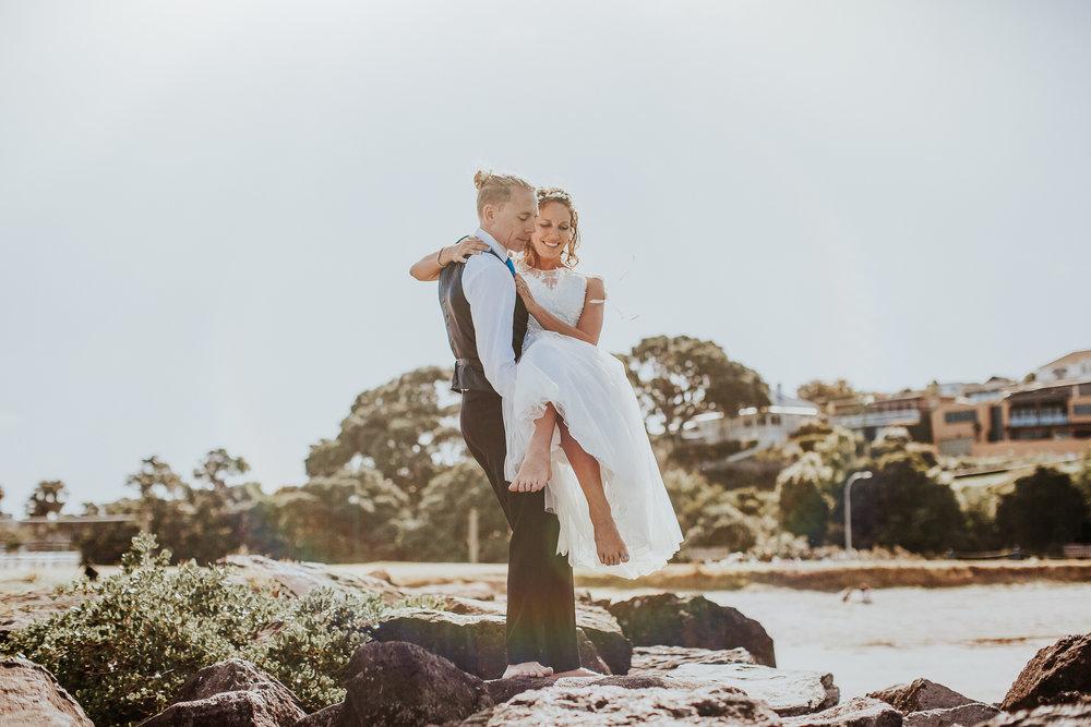 Milford Beach | Astra Bride Nicola | Milford Beach | Charlotte Christian Photography |