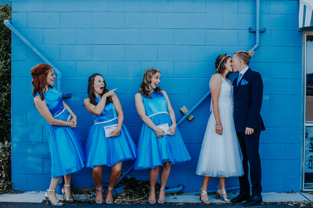 Blue bridesmiads | Astra Bride Nicola | Milford Beach | Charlotte Christian Photography |