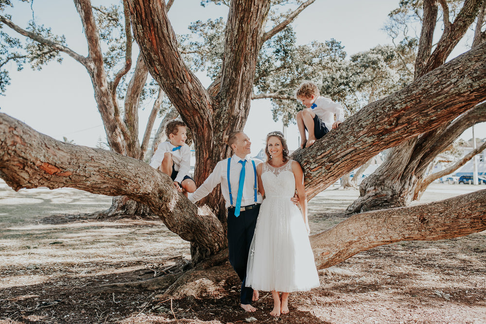 Pohutakawa tree | Astra Bride Nicola | Milford Beach | Charlotte Christian Photography |