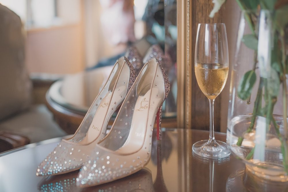 Louboutin shoes | Astra bride Basma | Sottero & Midgley Lovai | Langham Hotel | Levien & Lens Photography |