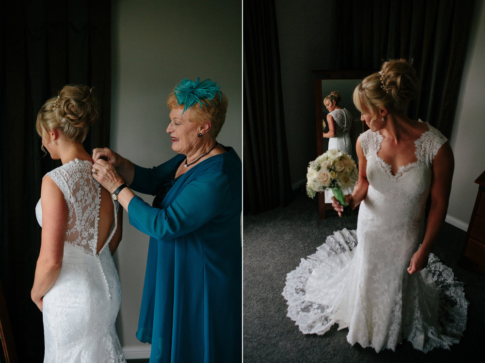 Getting dressed | Astra Bride Sarah | Maggie Sottero Londyn | Sarnia Park | Marque Brand Studios