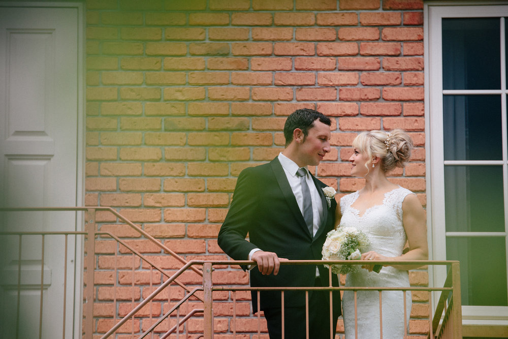 Balcony shot | Astra Bride Sarah | Maggie Sottero Londyn | Sarnia Park | Marque Brand Studios