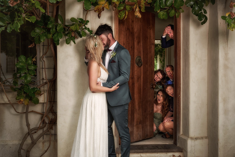 Fun shot | Astra Bride Julia | Sottero & Midgley Nicole | Cloudy Bay | Marlborough wedding photographer |