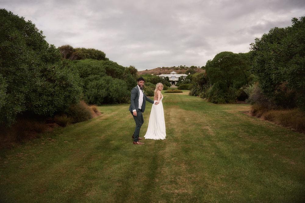 Long garden | Astra Bride Julia | Sottero & Midgley Nicole | Cloudy Bay | Marlborough wedding photographer |