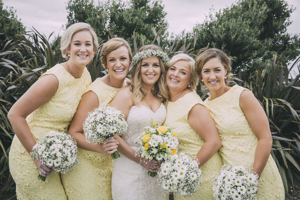 Bride and bridesmaids | Lucy Brophy | Maggie Sottero Chesney | The Bungalow | Aimee Kelly Photography |
