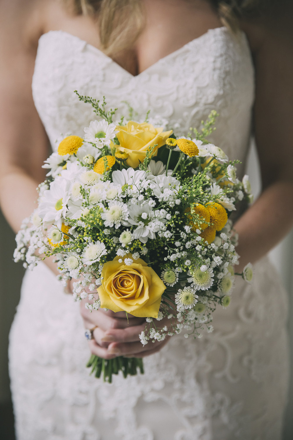Yellow flowers | Lucy Brophy | Maggie Sottero Chesney | The Bungalow | Aimee Kelly Photography |
