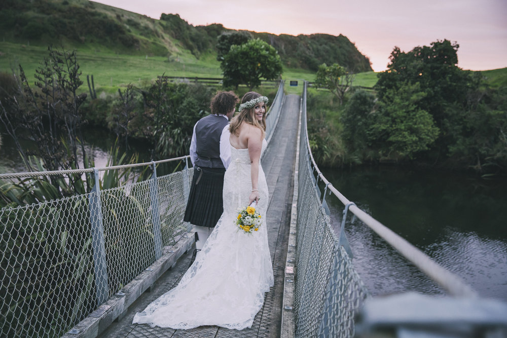 Swing bridge | Lucy Brophy | Maggie Sottero Chesney | The Bungalow | Aimee Kelly Photography |