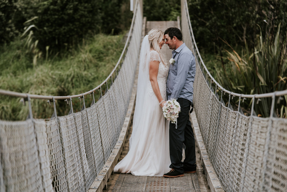 The bridge | Astra Bride Talei | Maggie Sottero Ettia | The Bungalow Taranaki | Abi Hackling Photography |