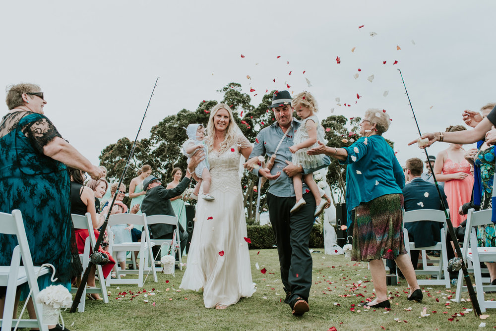 Happy family shot | Astra Bride Talei | Maggie Sottero Ettia | The Bungalow Taranaki | Abi Hackling Photography |