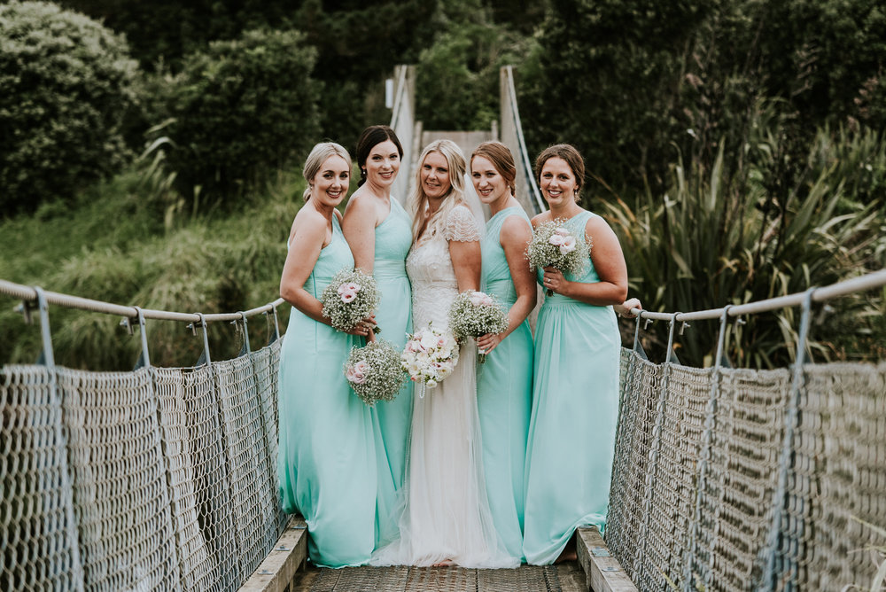 Bridal party | Astra Bride Talei | Maggie Sottero Ettia | The Bungalow Taranaki | Abi Hackling Photography |
