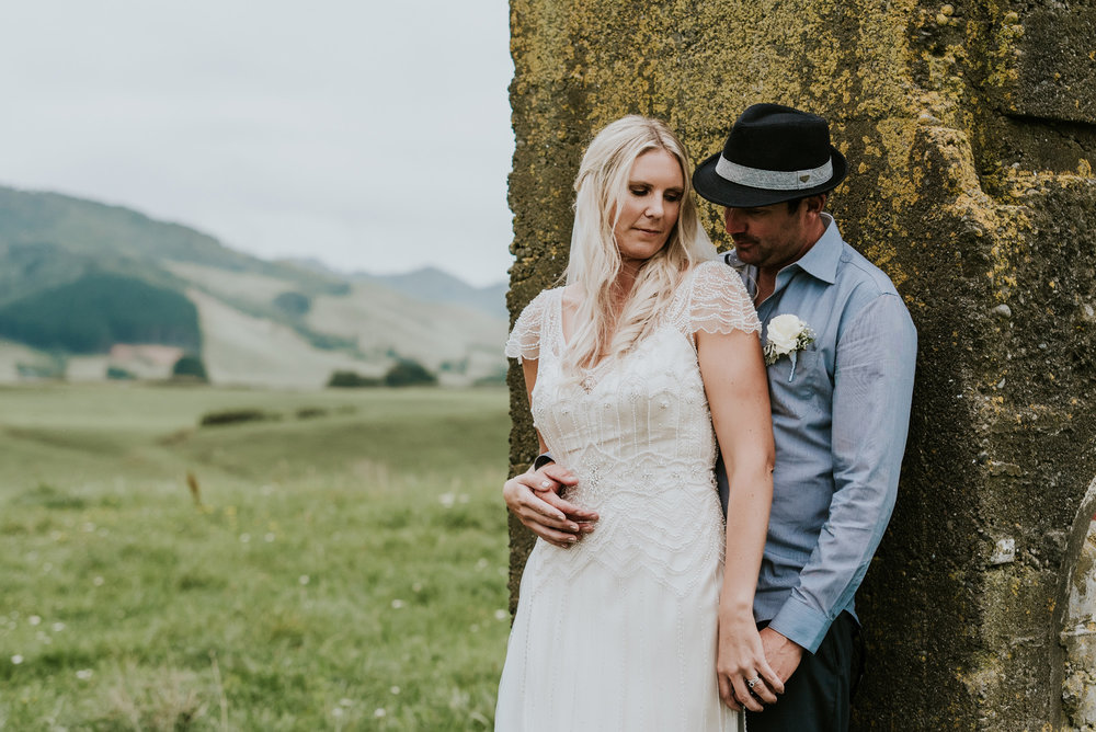 Time alone | Astra Bride Talei | Maggie Sottero Ettia | The Bungalow Taranaki | Abi Hackling Photography |