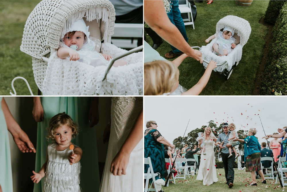 The kids | Astra Bride Talei | Maggie Sottero Ettia | The Bungalow Taranaki | Abi Hackling Photography |
