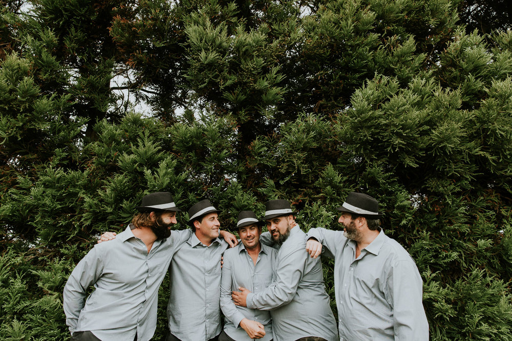 Boys waiting for the bride | Astra Bride Talei | Maggie Sottero Ettia | The Bungalow Taranaki | Abi Hackling Photography |