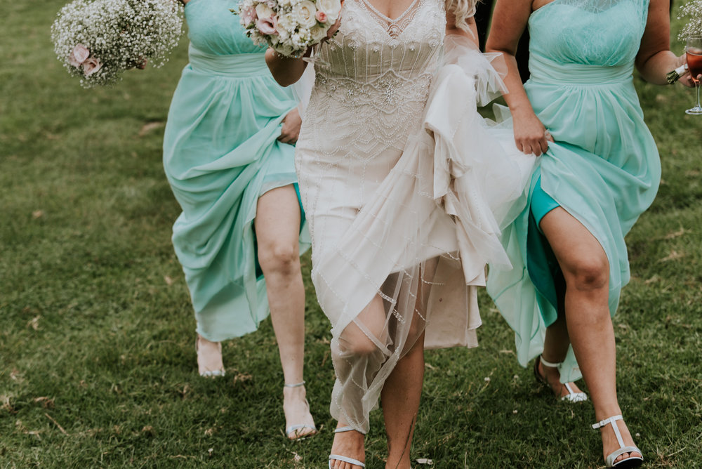 Mint bridesmaids | Astra Bride Talei | Maggie Sottero Ettia | The Bungalow Taranaki | Abi Hackling Photography |