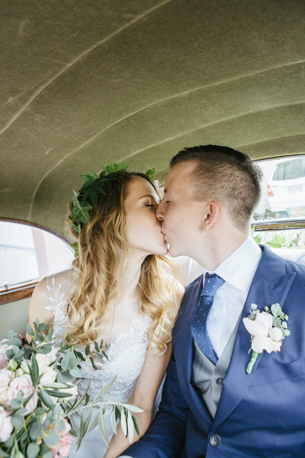 First kiss | Astra Bride Emma | Upper Room Church | Maggie Sottero Melinda | Wonder Ferris photography |