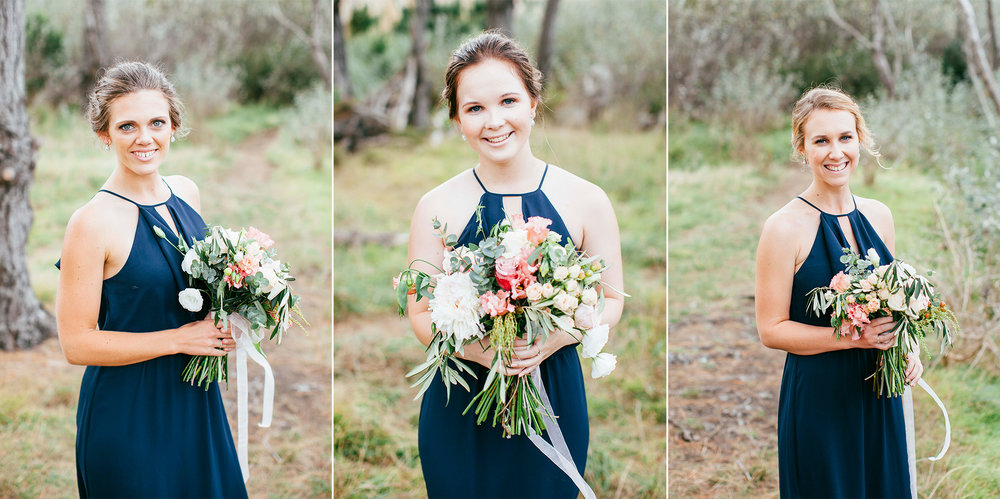 Bridesmaids in Navy Blue | Astra Bride Emma | Upper Room Church | Maggie Sottero Melinda | Wonder Ferris photography |