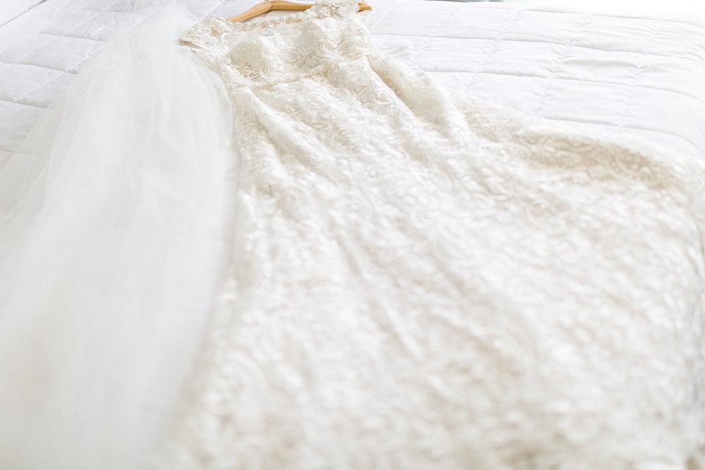 Dress awaits bride | Astra bride Lucy | Maggie Sottero Georgia | The Old Church Napier | Eva Bradley Photography |