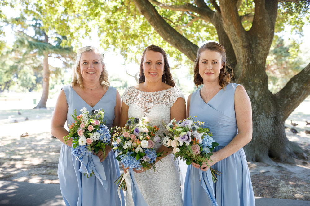 Pale blue bridesmaid | Astra bride Lucy | Maggie Sottero Georgia | The Old Church Napier | Eva Bradley Photography |