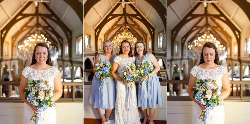 Bride and bridesmaids | Astra bride Lucy | Maggie Sottero Georgia | The Old Church Napier | Eva Bradley Photography |
