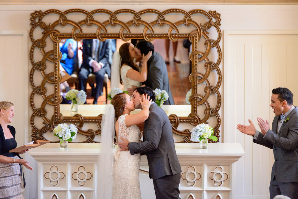 First kiss | Astra bride Lucy | Maggie Sottero Georgia | The Old Church Napier | Eva Bradley Photography |