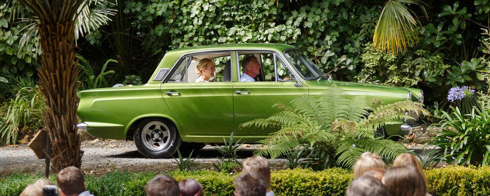 Bride arrives | Astra bride Shanelle Simpson | Venue Tatum Park | Maggie Sottero Patience Lynette | Photographer Paul Howell |