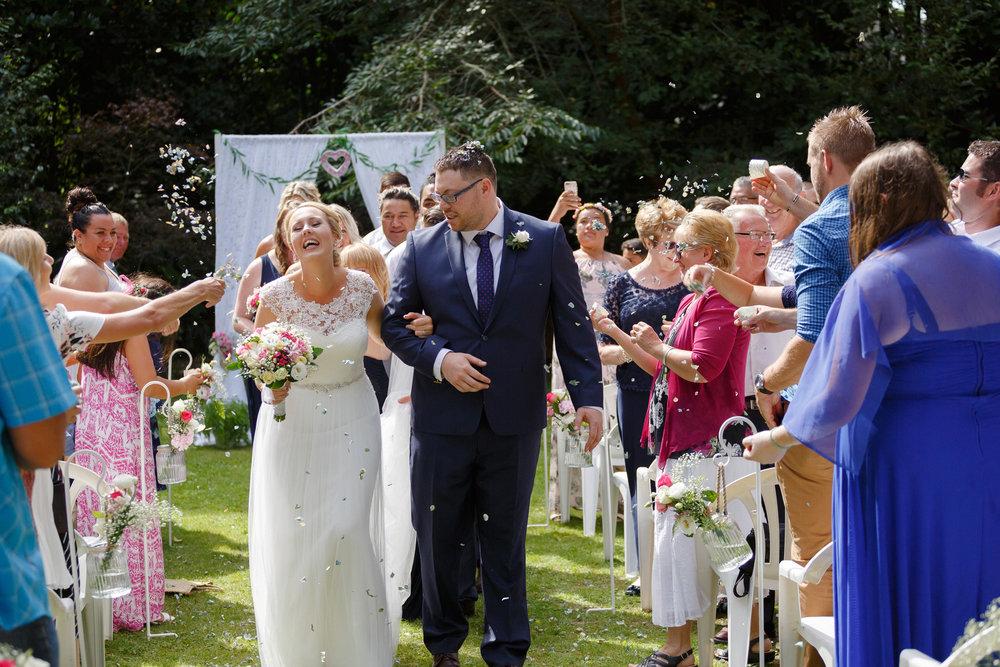 Confetti toss | | Astra bride Shanelle Simpson | Venue Tatum Park | Maggie Sottero Patience Lynette | Photographer Paul Howell |