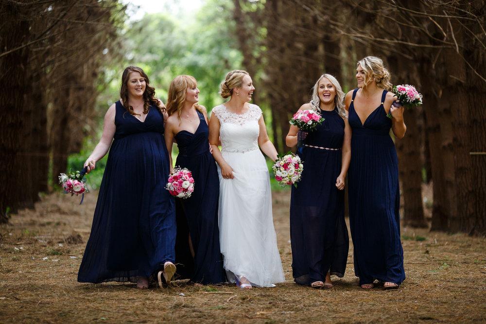 Navy bridesmaids | Astra bride Shanelle Simpson | Venue Tatum Park | Maggie Sottero Patience Lynette | Photographer Paul Howell |