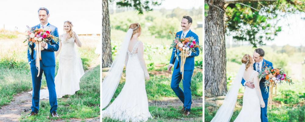 First look | Astra Bride Jessica's rustic farm wedding | Christina Rossi 6083 from Astra Bridal | www.borrowedandblue.kiwi