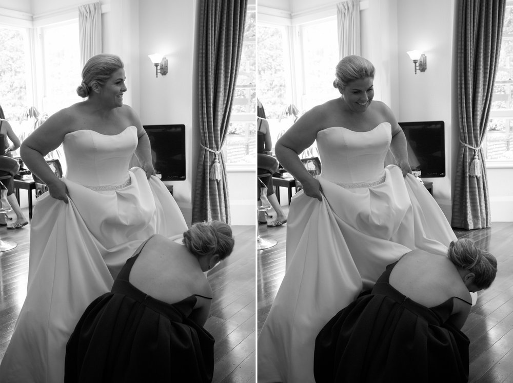 Getting dressed | Astra Bride Debbie | Cornwall Park | Maggie Sottero Taiya | Wink Photography |
