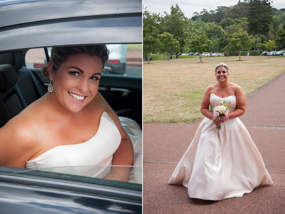 Off to the ceremony | Astra Bride Debbie | Cornwall Park | Maggie Sottero Taiya | Wink Photography |