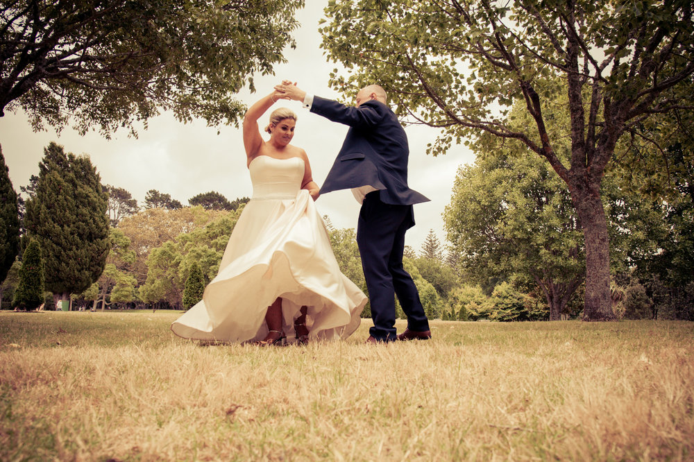 Dancing in the park | Astra Bride Debbie | Cornwall Park | Maggie Sottero Taiya | Wink Photography |