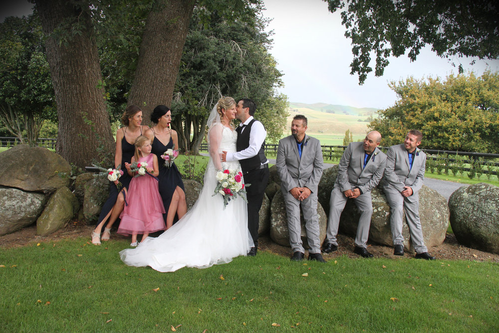 Wedding party | Astra bride Amy | Marys bridal gown | Red Barn Tirau | Mainly wedding Photography