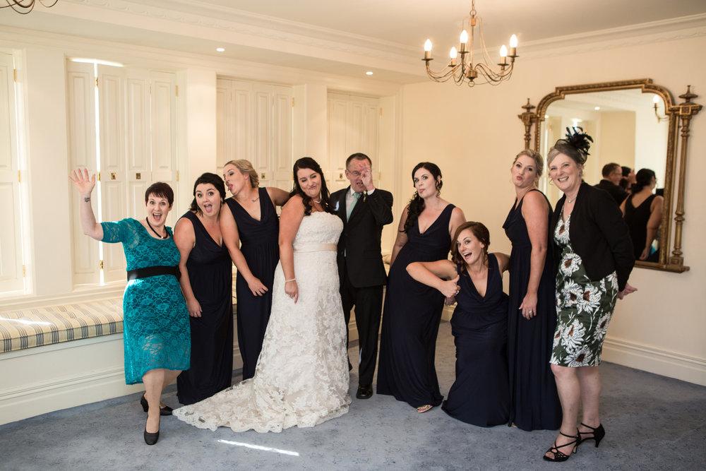 Fun bridal party | Astra bride Kelly | Maggie Sottero Karena Royale | Sarnia Park | Steve Brown wedding Photography |