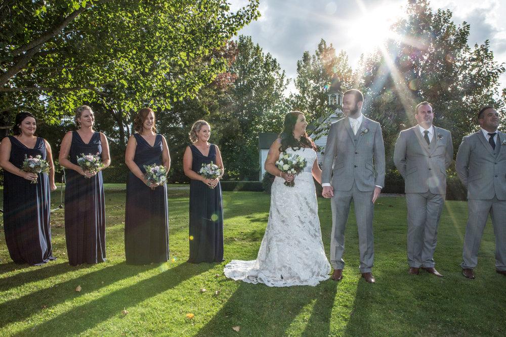 Wedding party | Astra bride Kelly | Maggie Sottero Karena Royale | Sarnia Park | Steve Brown wedding Photography |