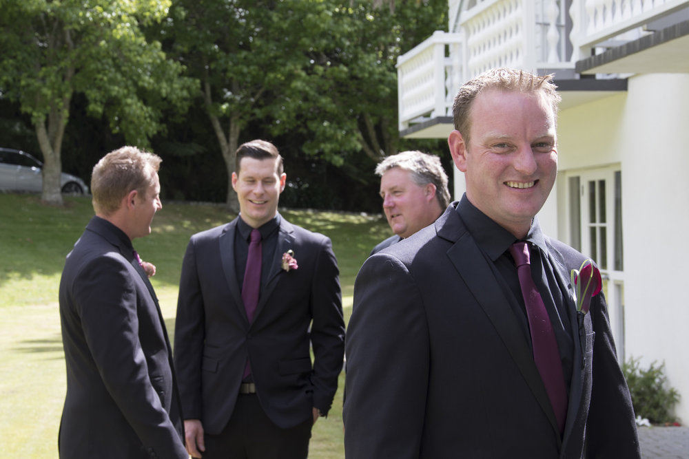 Groomsmen | Astra bride Jenni | Maggie Sottero gown | Wallaceville House | Paul Michaels Photography |